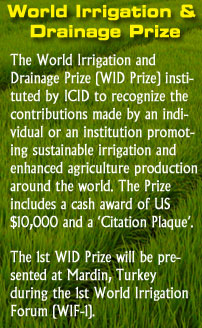 World Irrigation and Drainage Prize